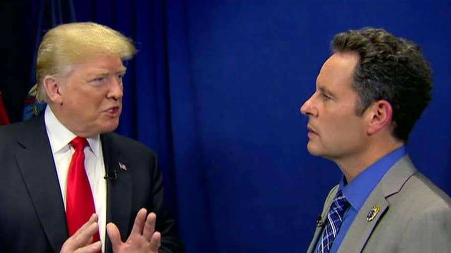 President Trump talks to 'Fox & Friends' about the new NFL anthem policy.