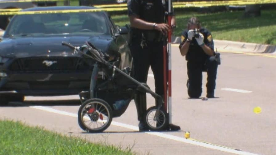 Raw video: Teen driver struck and killed a mother walking through crosswalk pushing her toddler in a stroller in Tampa, Florida. The 21-month-old is not expected to survive.