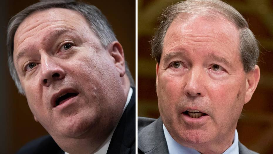 Pompeo, Udall spar over Trump conflict of interest questions