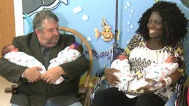 A Texas woman expecting triplets was surprised with with a fourth baby after she went into labor on Monday.
