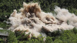 New video has been released of North Korea demolishing tunnels to their alleged nuclear test site.