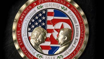 A coin commemorating the now-canceled summit between President Trump and North Korean Leader Kim Jong Un is in high demand. It's so sought after it crashed the White House gift shop website.