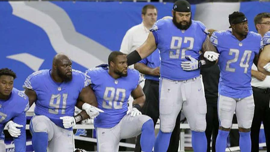 President Trump weighs in after the NFL decided that players who kneel during the national anthem will face fines; former NFL player Burgess Owens weighs in on 'The Ingraham Angle.'