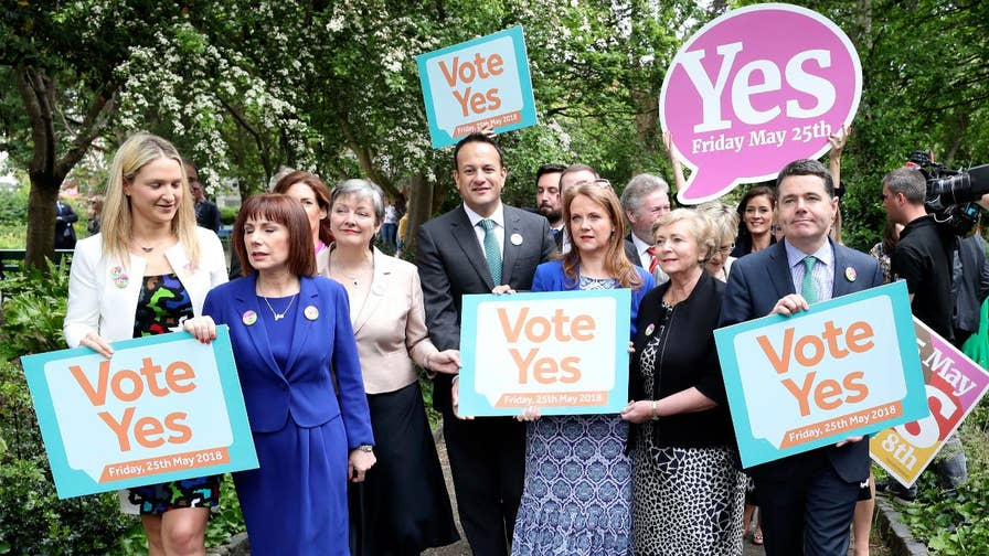 Exit polls indicate a landslide victory for those who want Ireland's constitutional ban on abortion repealed.