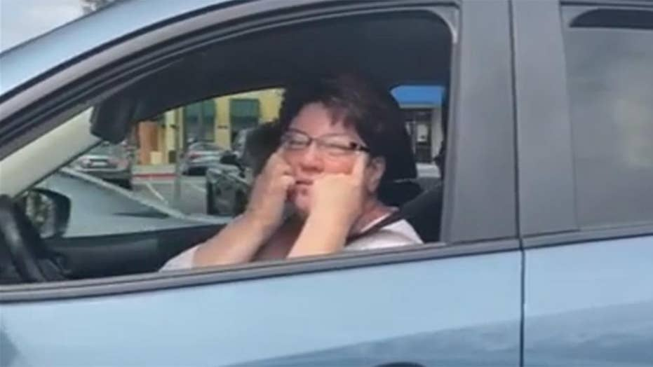 US military veteran captures driver's racist taunts