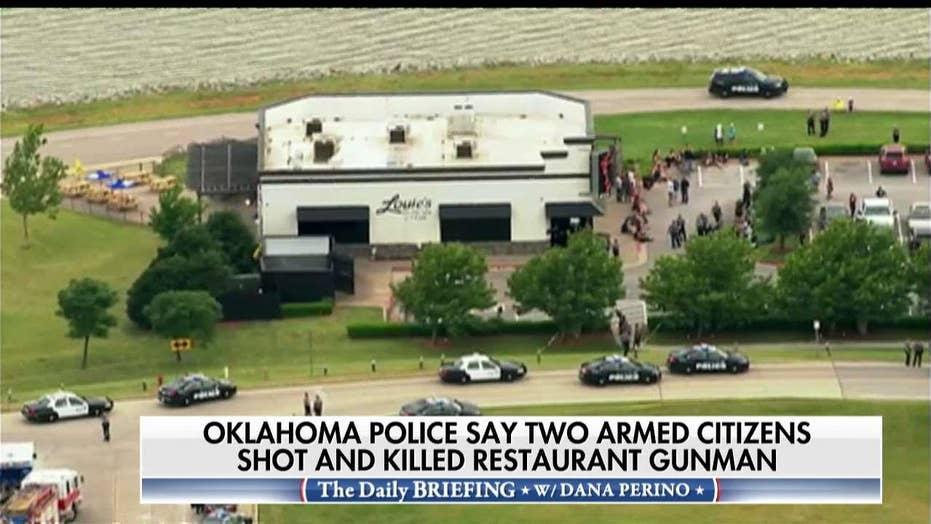 Man opens fire inside Oklahoma restaurant before 'armed citizen' shoots, kills him, police say