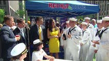 'Fox & Friends' enjoys some barbecue with US Navy sailors.