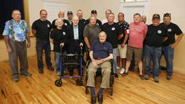"Former President George H.W. Bush said he was ""delighted"" to spend some time with veterans in Maine on Saturday, while there over the Memorial Day weekend."