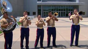 Quantico band performs 'Stars and Stripes Forever' for Memorial Day weekend.