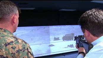Leland Vittert gets an inside look at Quantico's high tech combat training.