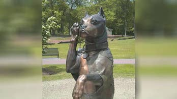 'Stubby' the dog played a key role protecting soldiers during World War One and is now getting a sculpture in Connecticut's Veterans Memorial Park; sculptor Susan Bahary shares insight on 'America's News HQ.'