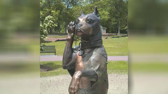'Stubby' sculpture honors famous American war dog