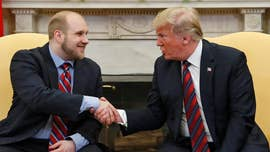 Joshua Holt, who flew back to the U.S. on Saturday after being jailed in Venezuela since 2016, met with President Trump at the White House following his return.