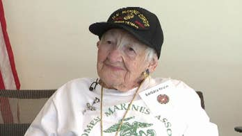 Barbara Kruse joined the Marines in 1943 when she was twenty years old.