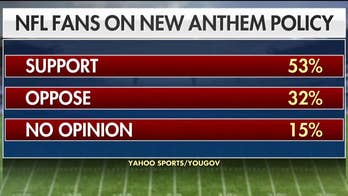 53 percent of NFL fans support the new anthem policy, according to a poll; former NFL player Herschel Walker weighs in.