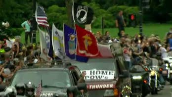 Bikers ride in D.C. in honor of prisoners and war and soldiers missing in action.