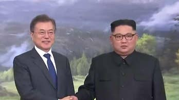 North and South Korean leaders hold impromptu meeting amid uncertainty over United States-North Korea summit; Greg Palkot shares an update.