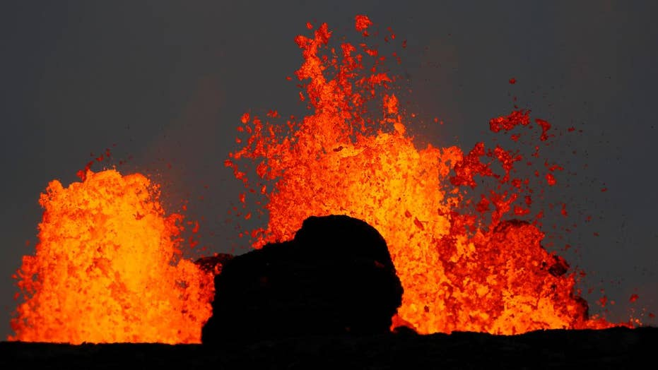 Hawaii volcano lava crosses onto geothermal plant's property