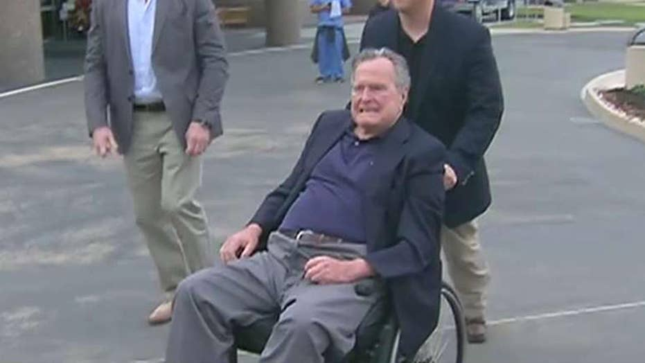 George HW Bush hospitalized in Maine
