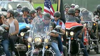 The ride across the nation honors Veterans and their families.