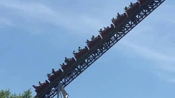 Raw video: Thrill seekers trapped at Cedar Point amusement park.
