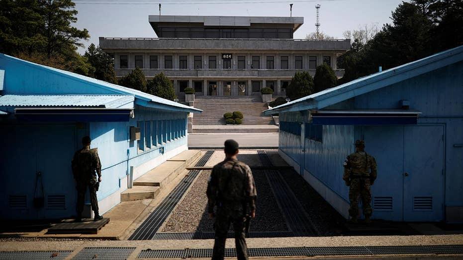 US team on Korean peninsula ahead of canceled summit