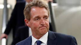 "Calling President Trump's immigration rhetoric ""bothersome"" and warning that the nation is in ""crisis,"" Republican Sen. Jeff Flake, R-Ariz., on Sunday called for a primary challenger to take on the president in 2020."