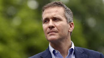 Missouri Republican governor, once considered a GOP rising star, announces his resignation amid an impeachment effort sparked by a pair of scandals; Matt Finn reports.