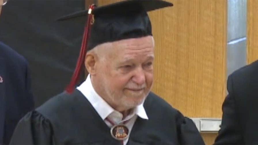 Robert Lockard, 94, would have graduated from Circleville High School in Ohio in 1944 but instead dropped out.
