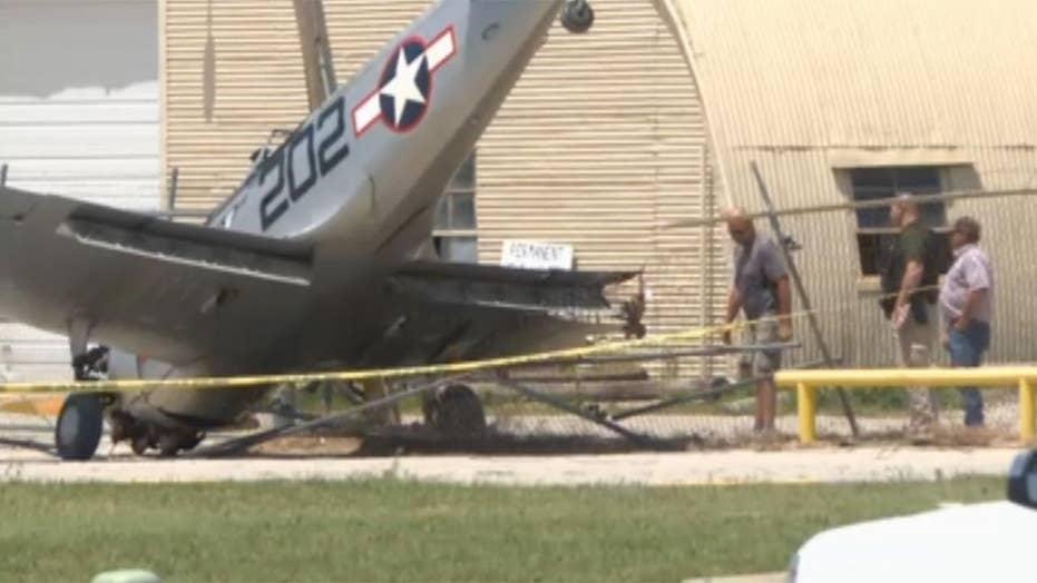 World War II-era plane crashes after Memorial Day flyovers
