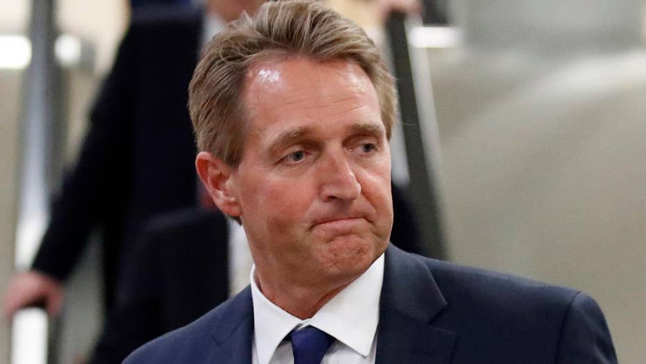 Jeff Flake won't rule out White House run against Trump