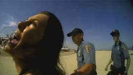 A woman whose violent arrest on a New Jersey beach earlier this year was captured on video was indicted last week.
