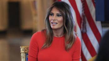 First lady tweets that she is hard at work in the White House.