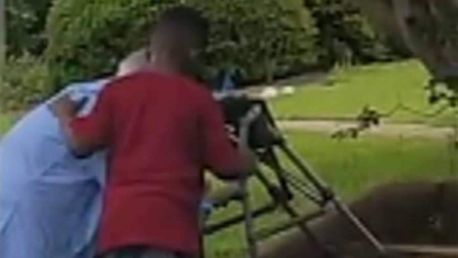 When a young boy in Milledgeville saw a woman struggling to climb a flight of stairs, he decided to help out.