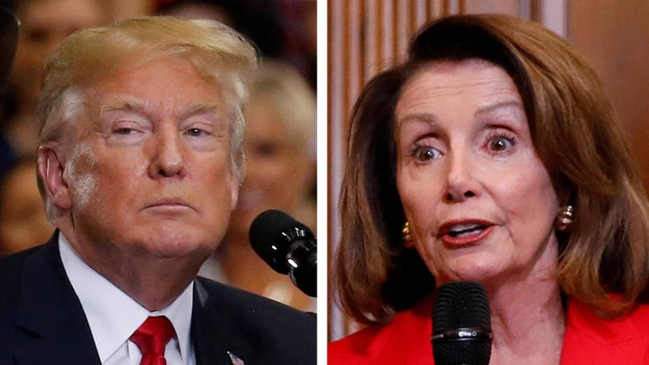 President Trump slams 'MS-13 lover' Nancy Pelosi