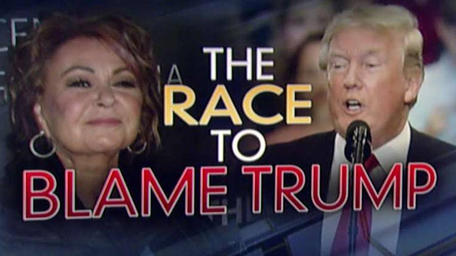 If you believe the left and the never-Trumpers, Donald Trump himself may as well have taken possession of Roseanne Barr's phone and tapped out the Tweet the led to the demise of her hit sitcom.