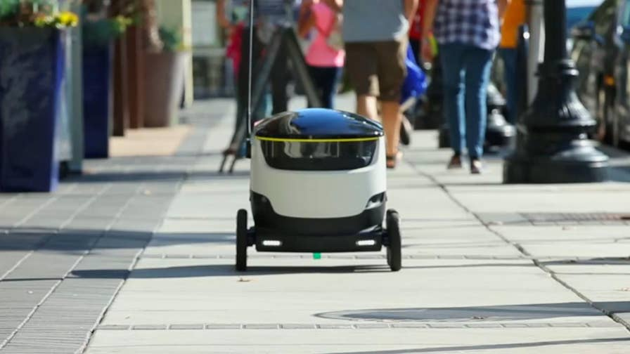 Customers can use app to order food, items and the robot will deliver it.