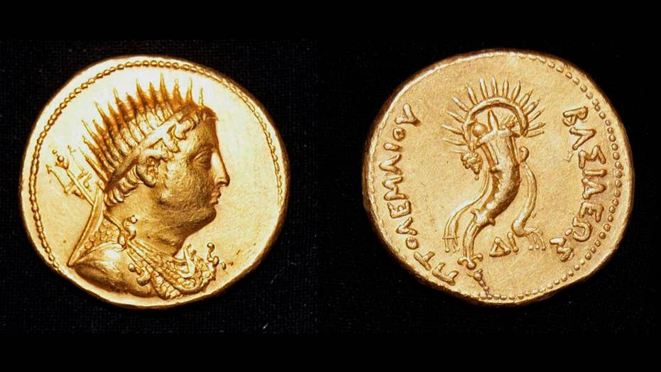 Ancient coin depicting King Ptolemy III uncovered in Egypt