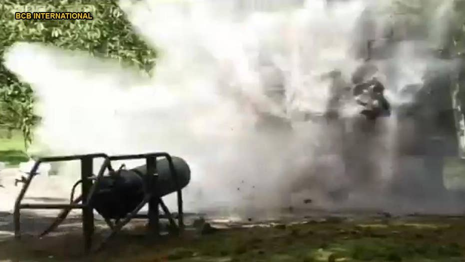 Cannon fires unbelievable ammo - could help rescue victims