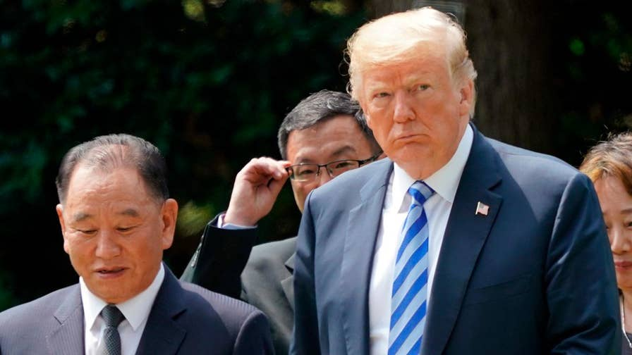 President Trump remarks following completion of Oval Office meeting with North Korean official Kim Yong Chol.