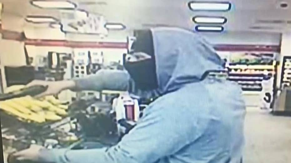 Armed robbery at a Maryland 7-Eleven is caught on camera
