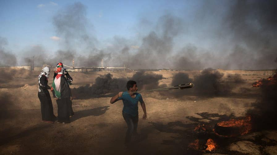 Israeli military hit 15 Hamas targets, including military compounds, munition factories, naval forces; Conor Powell reports from Jerusalem.