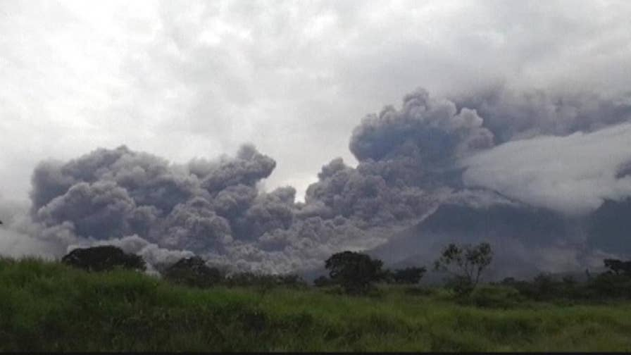 A volcano southwest of Guatemala's capital has erupted for the second time this year, setting off loud explosions and spewing ash nearly four miles into the sky.