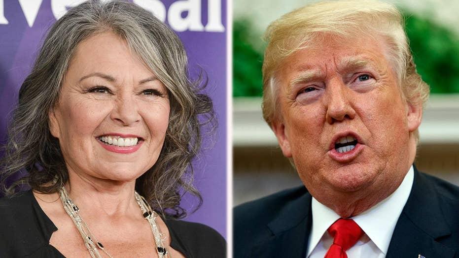 Roseanne critics target Trump