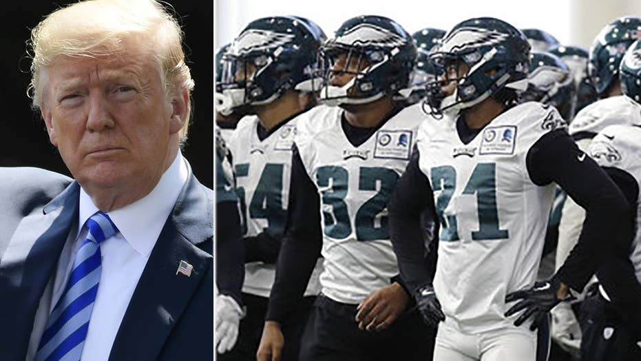 Trump disinvites NFL's Philadelphia Eagles to White House