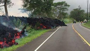 Officials say lava from Kilauea volcano destroyed hundreds of homes on the Big Island overnight.