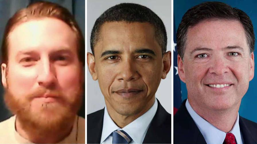 Kristian Saucier intends to sue the Justice Department, Comey and Obama. Griff Jenkins has the story.