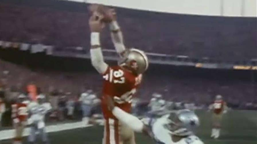 San Francisco 49ers wide receiver, who made one of the most famous catches in NFL history, dies after ALS battle.