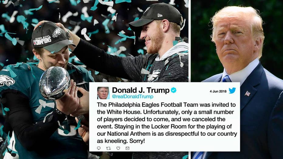 Trump cancels Philadelphia Eagles visit to White House