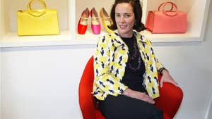 Celebrities react on social media to the death of fashion designer Kate Spade.